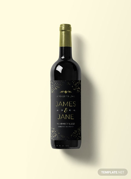 Free Wedding Wine Label Template