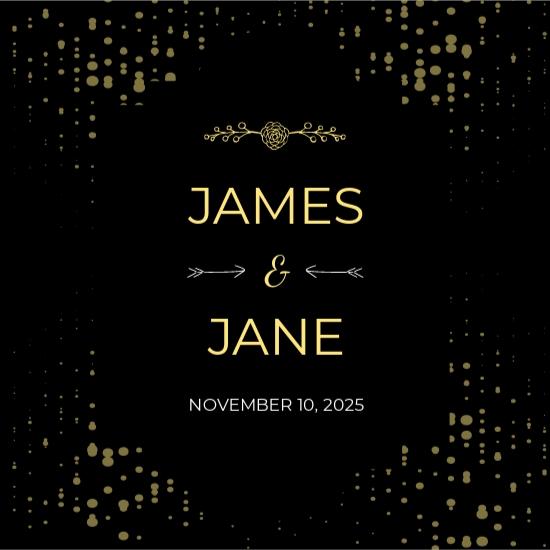 Wedding Wine Label Template