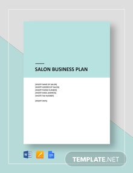 Salon Business Plan Template
