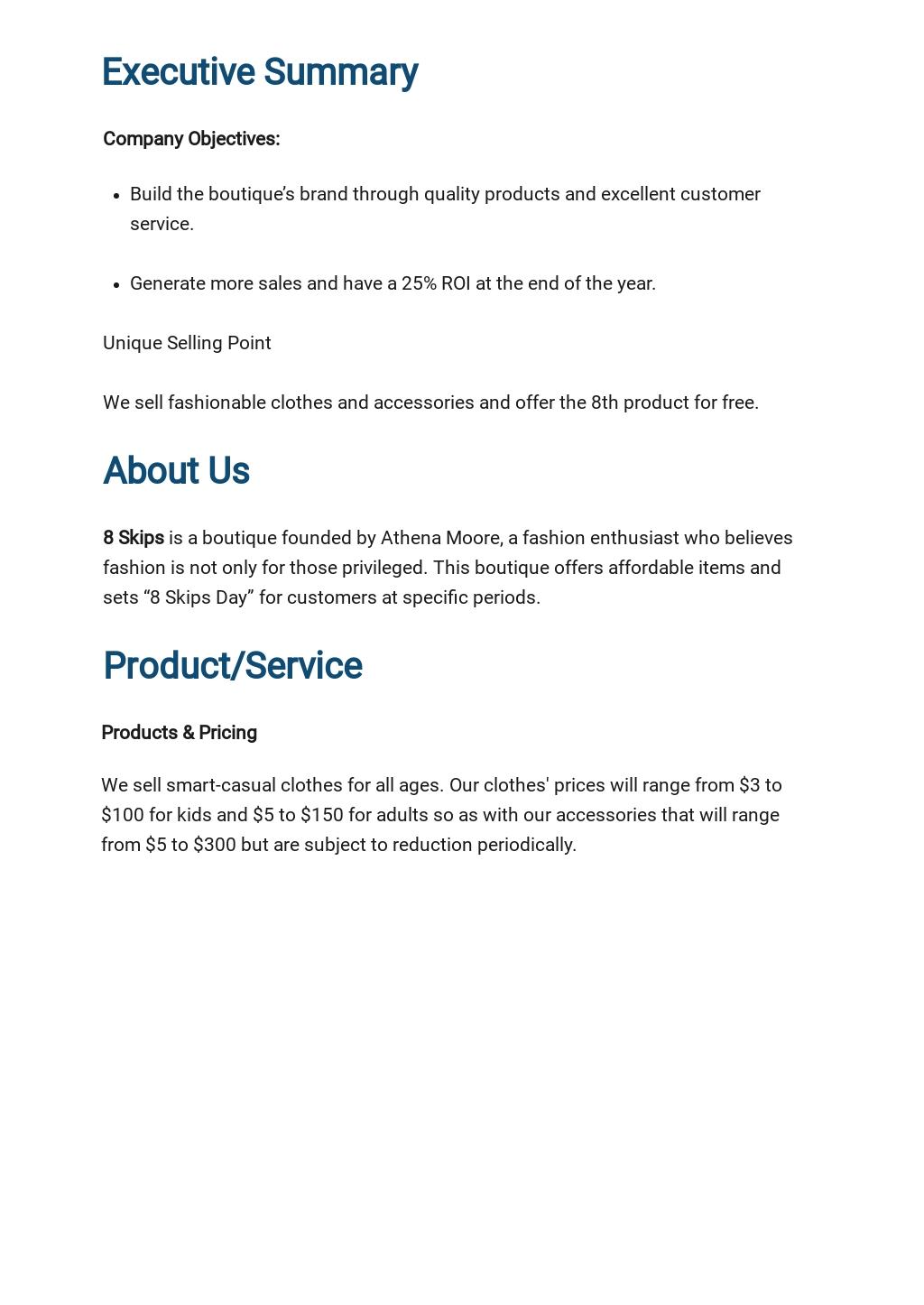 Sample Boutique Business Plan Template 1.jpe