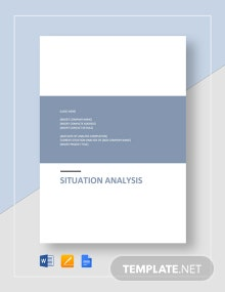 Situation Analysis Template