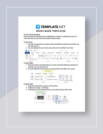 Simple Training Needs Analysis Instructions