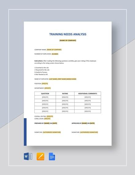 Simple Training Needs Analysis