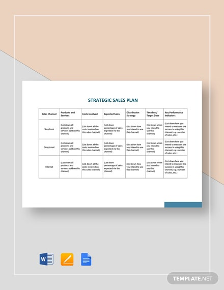 Strategic Sales Plan Template