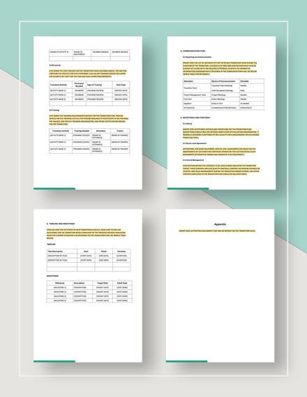 Sample Transition Plan