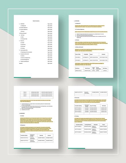 Transition Plan Download