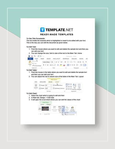 Transition Plan Instructions