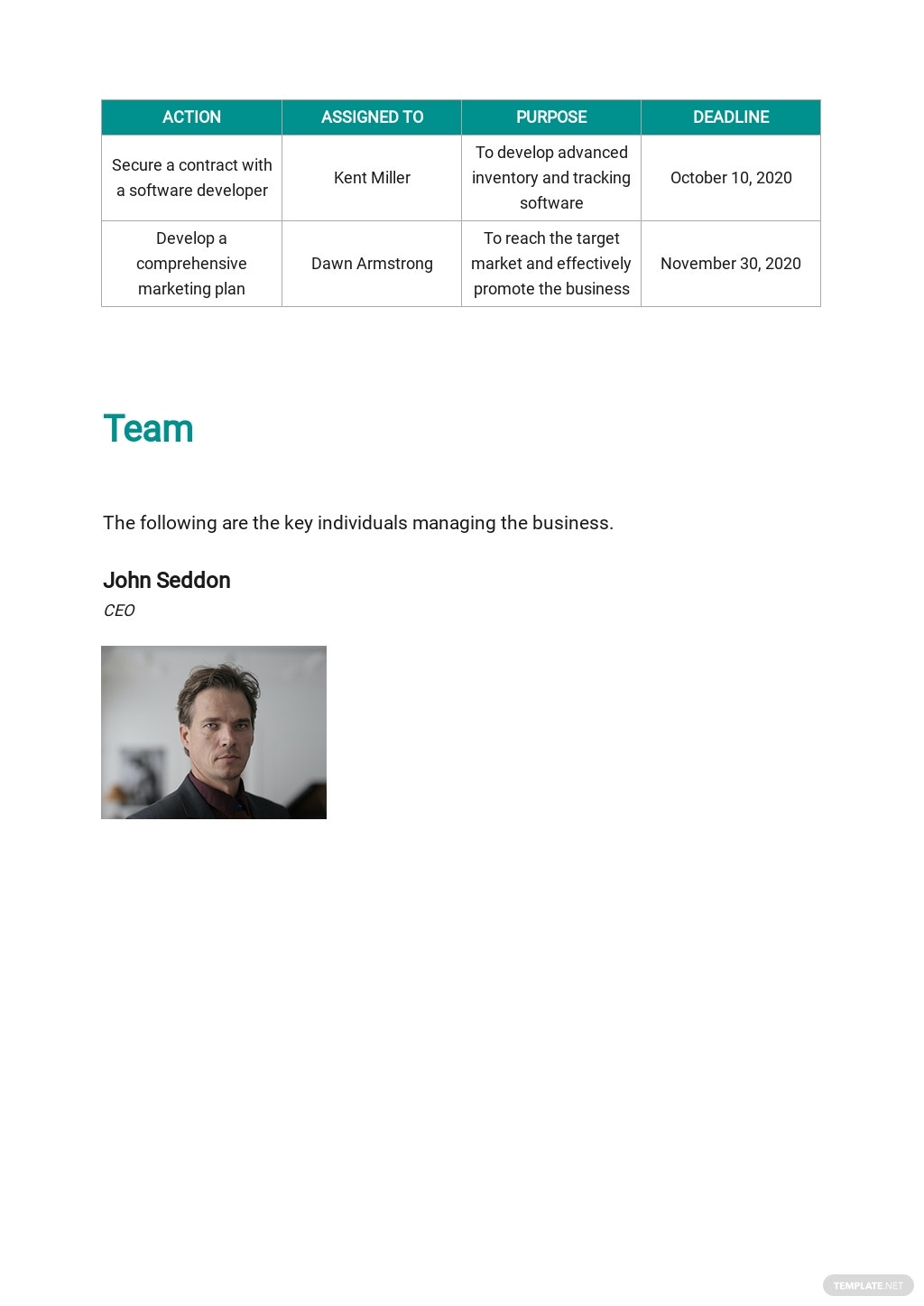 Startup Business Plan Template [Free PDF] - Google Docs, Word, Apple Pages, PDF
