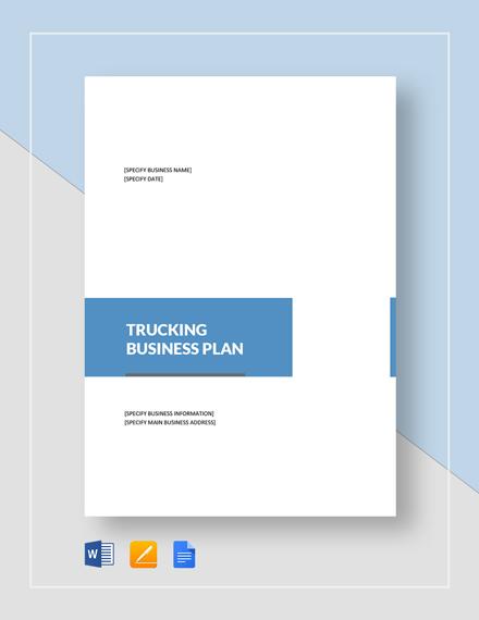 trucking business plan template word google docs. Black Bedroom Furniture Sets. Home Design Ideas