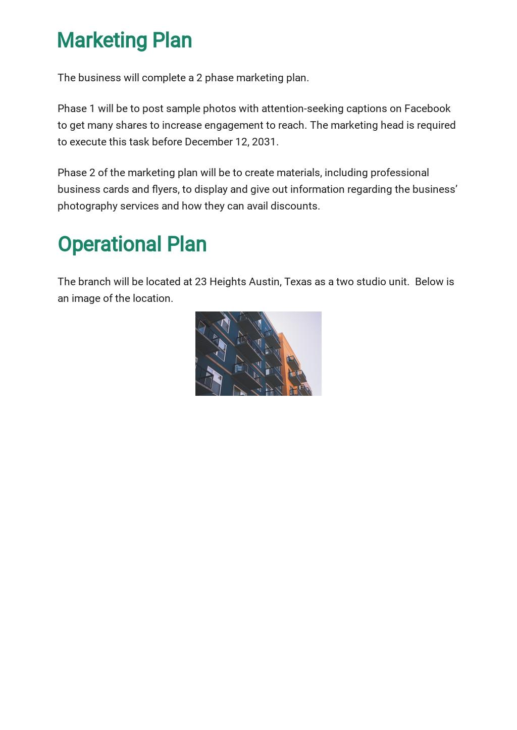Photography Business Plan Template 4.jpe