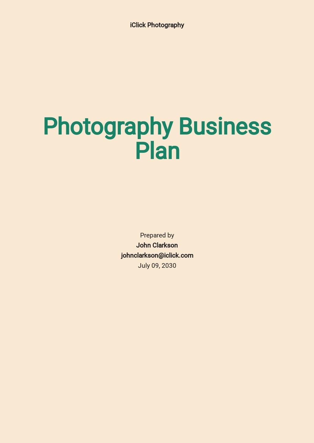 Photography Business Plan Template.jpe