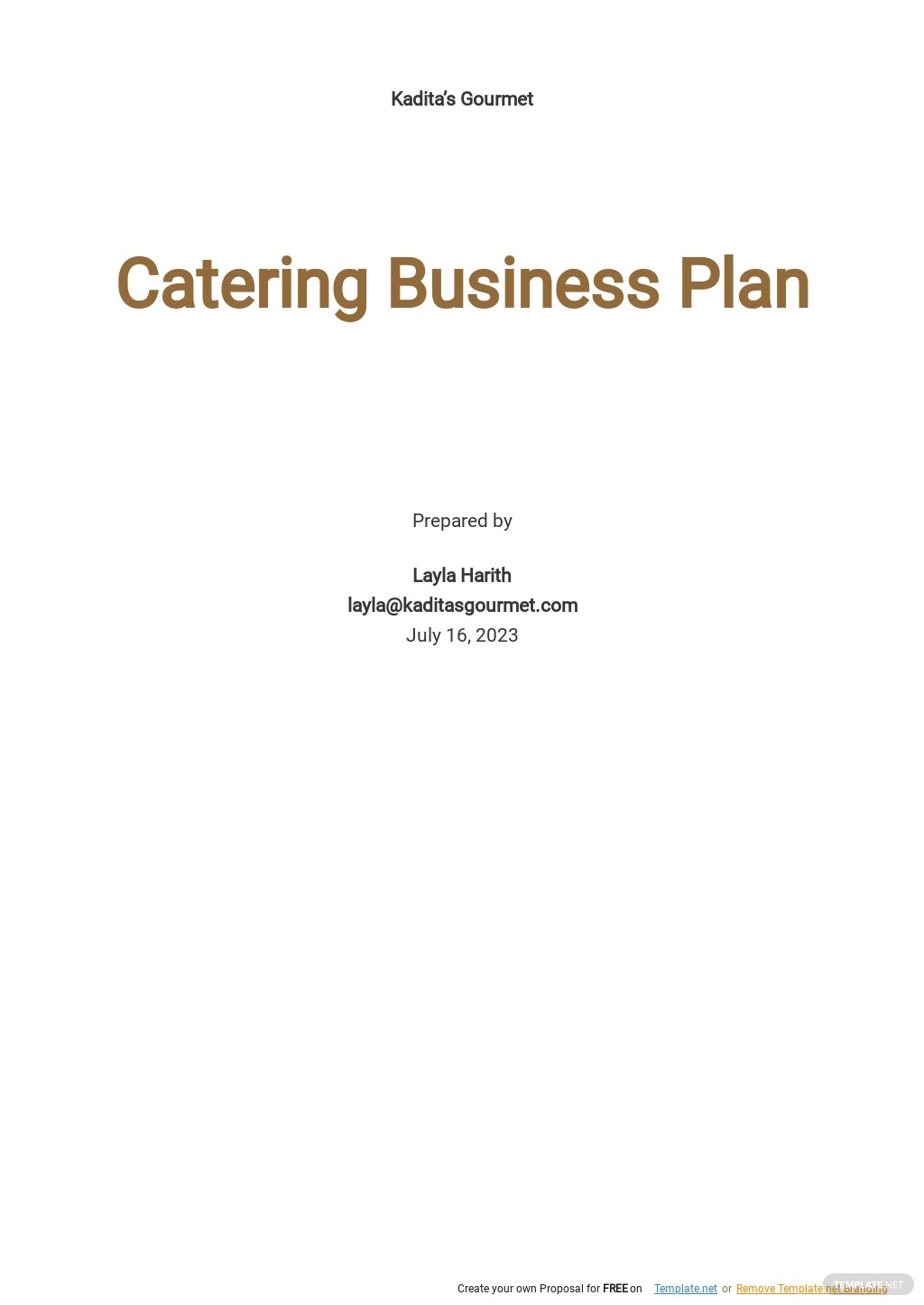 Catering Business Plan Template.jpe
