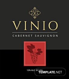 Free Wine Bottle Label Template
