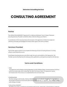 Consulting Agreement Template