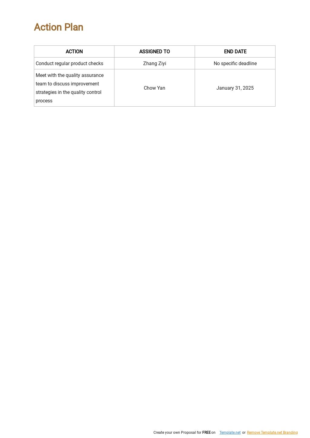 Sample Quality Assurance Plan Template 4.jpe