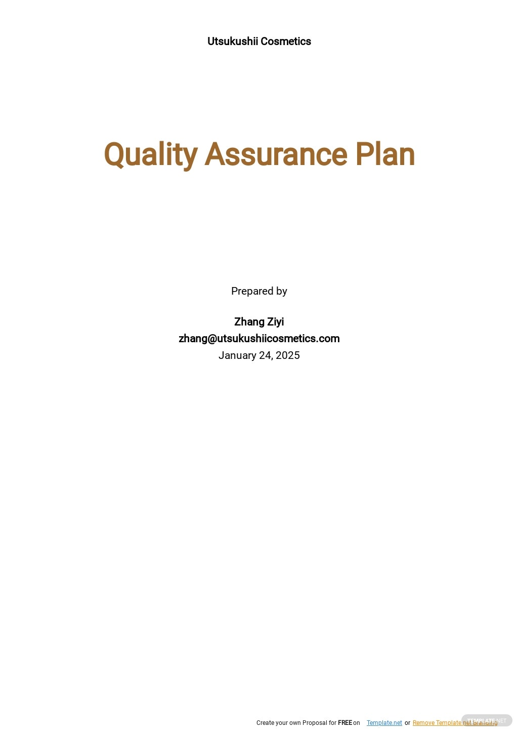 Sample Quality Assurance Plan Template.jpe