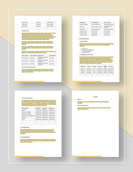 Sample Quality Assurance Plan Download