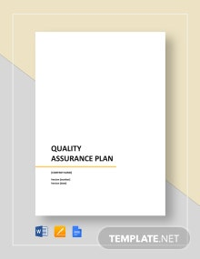 Sample Quality Assurance Plan Template
