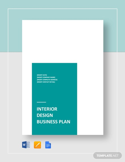 Interior Design Business Plan Template Word Doc Google