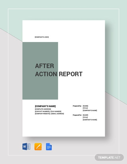 After Action Report Template