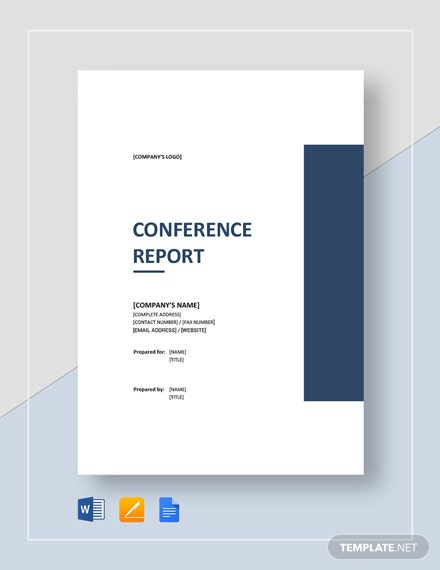 Conference Report Template