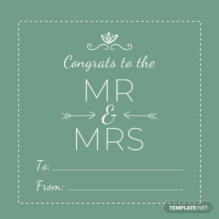 Free Wedding Gift Label Template