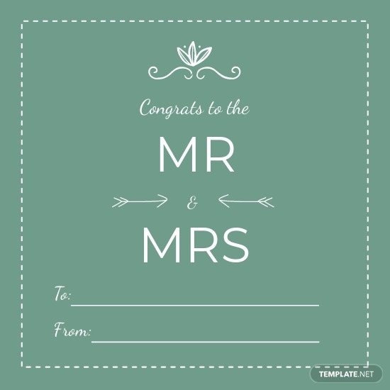 Wedding Gift Label Template [Free JPG] - Illustrator, Word, Apple Pages, Publisher