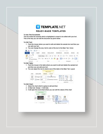 Business Management Report Instruction