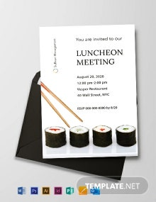 Free Luncheon Meeting Invitation Template