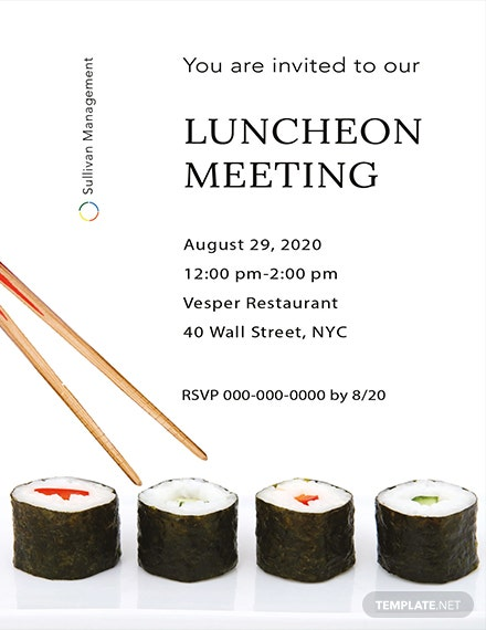 Luncheon Meeting Invitation