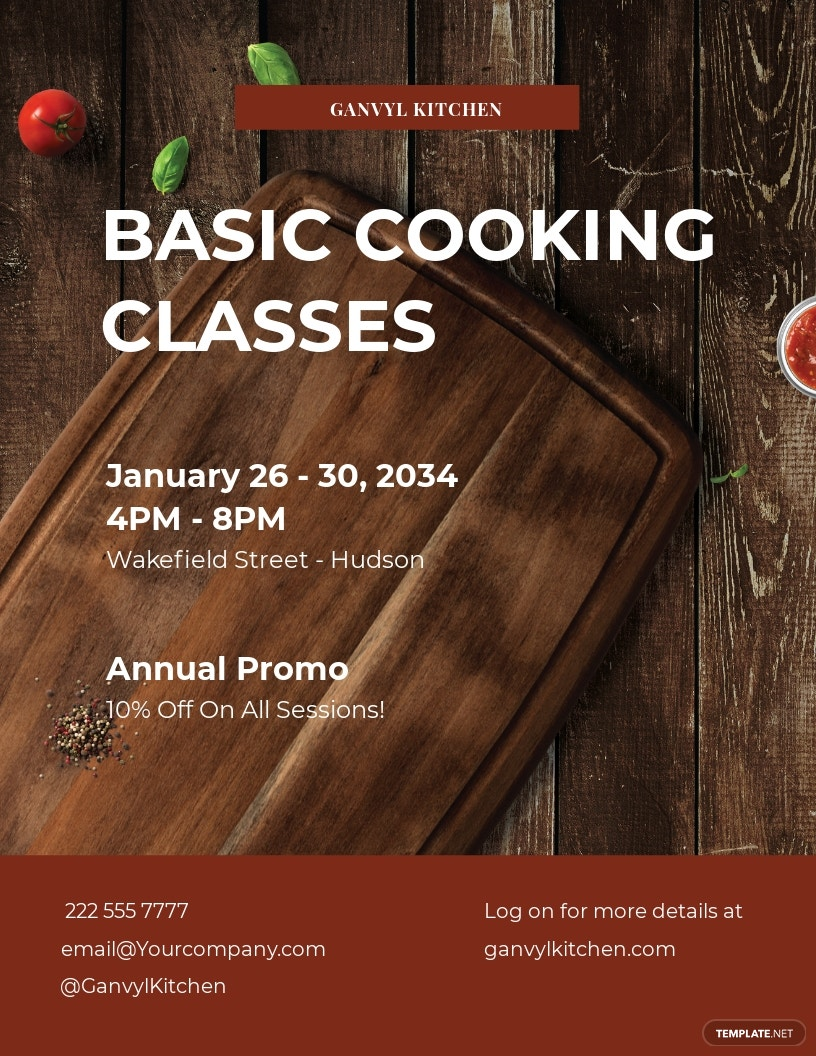 Cooking Classes Flyer Template