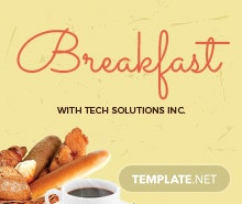 Free Formal Breakfast Invitation Template in Adobe Photoshop
