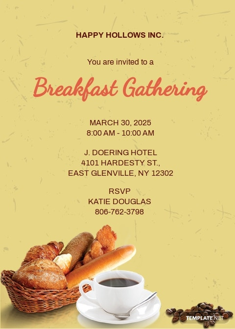 Company Breakfast Invitation Template