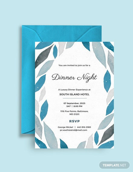 Free Company Dinner Invitation Template
