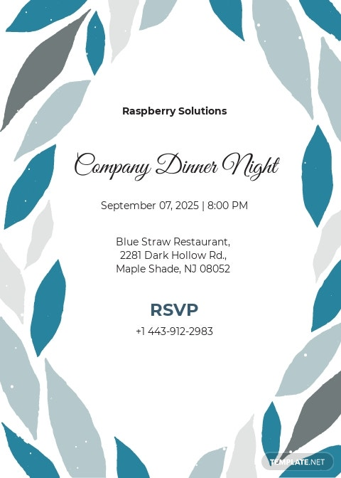 Company Dinner Invitation Template