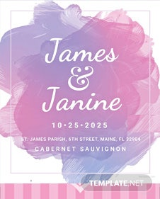 Free Wedding Bottle Label Template
