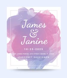 Free Wedding Bottle Label Template