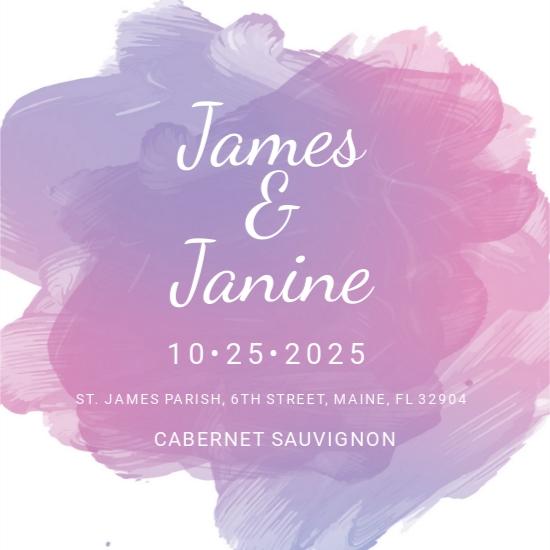 Wedding Bottle Label Template