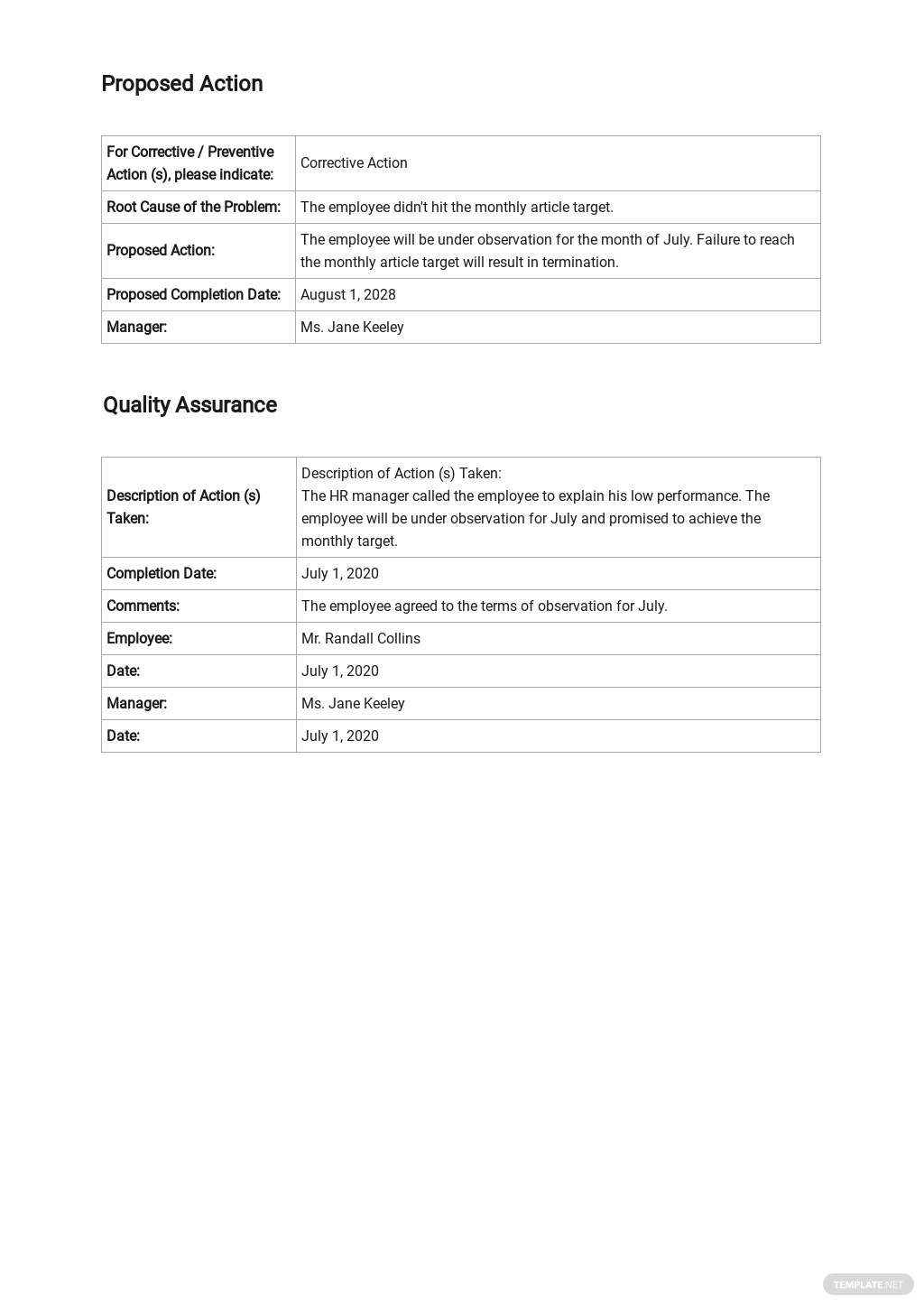 Corrective Action Report Template [Free PDF] - Google Docs, Word