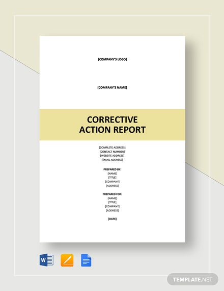 Corrective Action Report Template