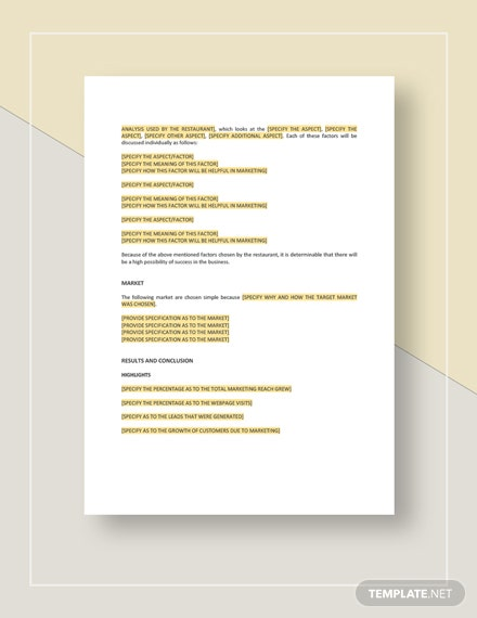 Marketing Report Download