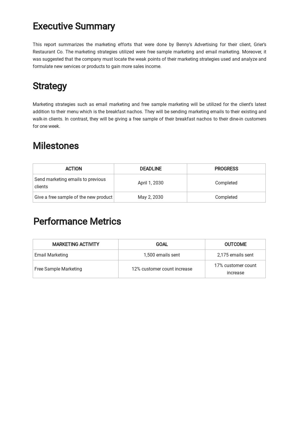 Restaurant Marketing Report Template 1.jpe