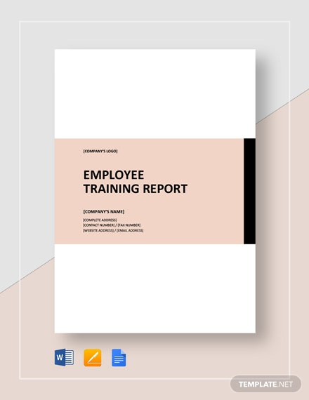 Employee Training Report Template