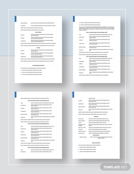 Home Inspection Report Format