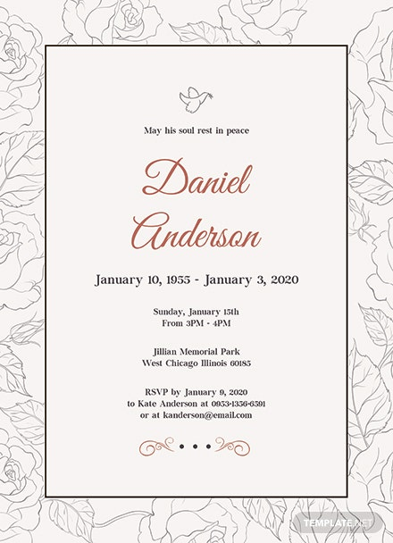 Free Simple Funeral Invitation Template: Download 344+ Invitations ...