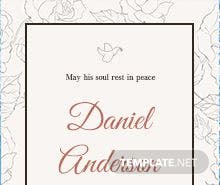Free Simple Funeral Invitation Template