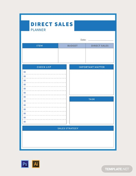 Free Direct Sales Planner Template Download 32 Planners In Psd