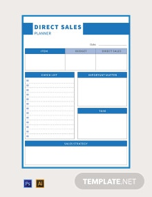 Free Direct Sales Planner Template
