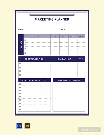 Free-Marketing-Planner-Template