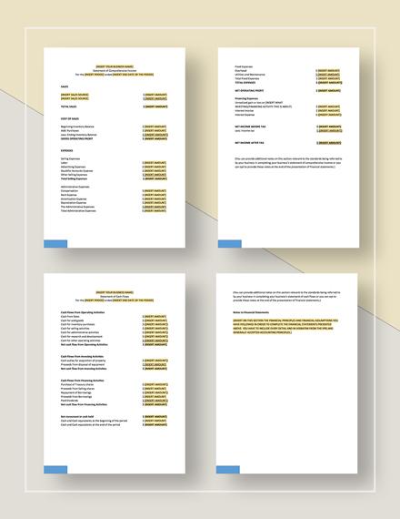 Financial Statement Download